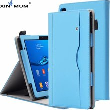 XIN-MUM Case for Huawei T5 10 PU Leather Shockproof Tablet Stand Cover for Huawei MediaPad T5 10 AGS2-W09/L09/L03/W19 10.1 Inch mingfeng pu leather cover case for huawei t5 10 protective smart case for ags2 w09 l03 w19 10 1inch tablet pc case covers