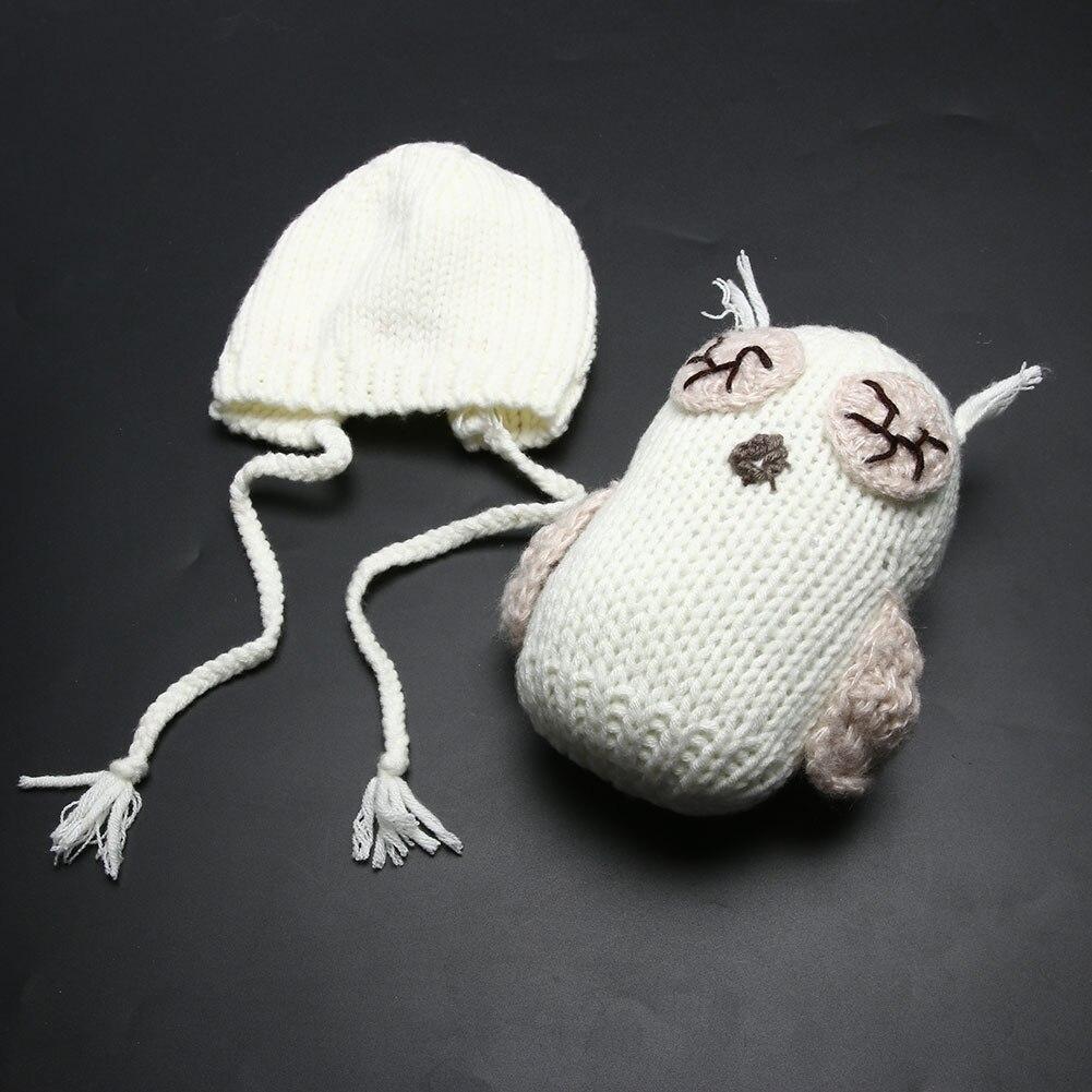 Baby Weiß Neugeborenen Häkeln Stricken Eule Puppen und Eule Hut ...