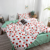 HOT sale Bedding Sets Love Duvet Cover3/4pcs Cartoon new fashion Bed sheets Single Twin Full Queen Sizes Cherry fruit