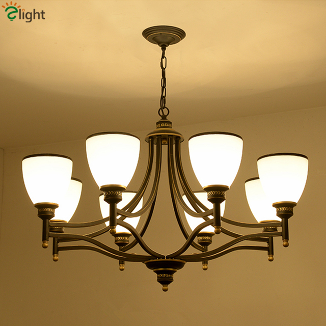 AC85 265V Europe Frosted Glass Shades Up&Down Led Chandelier ...