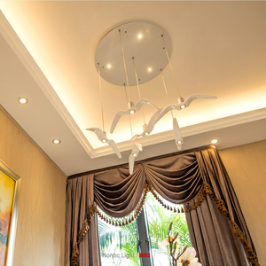 Image 2 - Nordic lampada a sospensione Gabbiano Disegno Lampadari Led Per Bar/Cucina Birds Lampadario A Soffitto Corpo Illuminante Luce Apparecchio