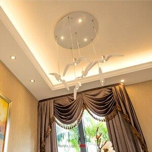 Image 2 - โคมไฟนอร์ดิกSeagull Design LEDโคมไฟระย้าสำหรับบาร์/ห้องครัวนกChandelierเพดานโคมไฟโคมไฟ