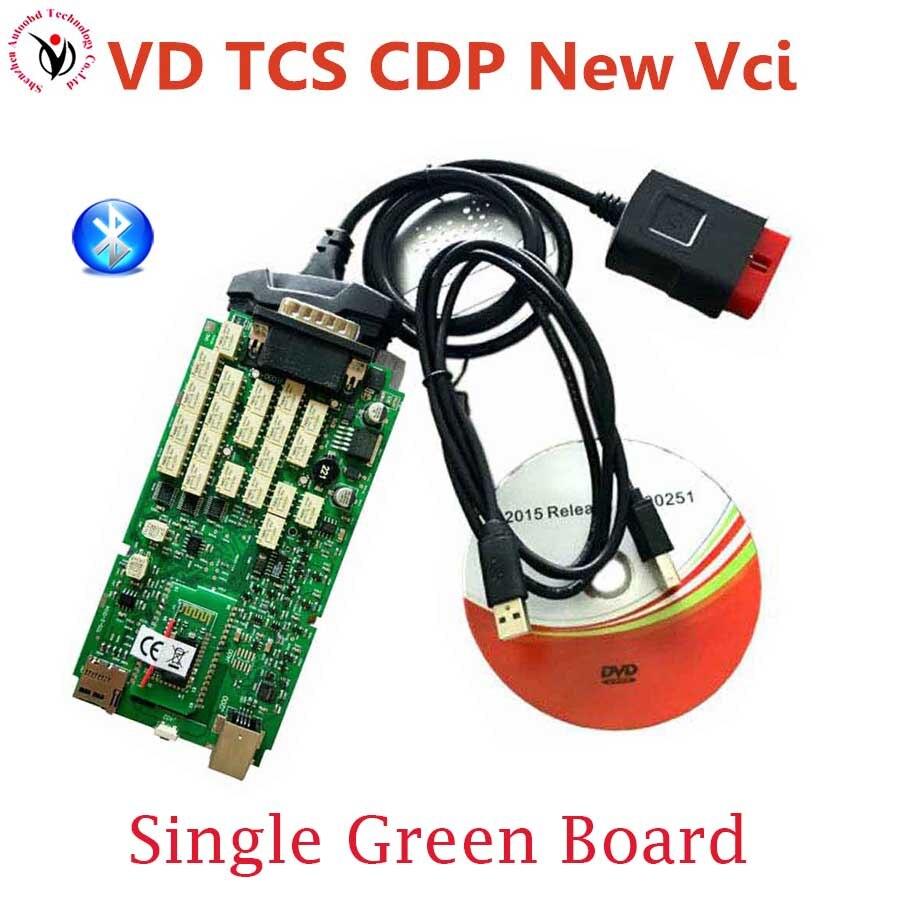 Новый Vci VD TCS CDP Bluetooth OBD2 диагностический Интерфейс одноплатный SN100251 OBD OBD2/OBDII автоматический диагностический сканер инструмент