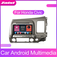 ZaiXi Android Car Multimedia player 2 Din WIFI GPS Navigation Autoradio For Honda Civic 2006~2011 Radio FM Maps BT