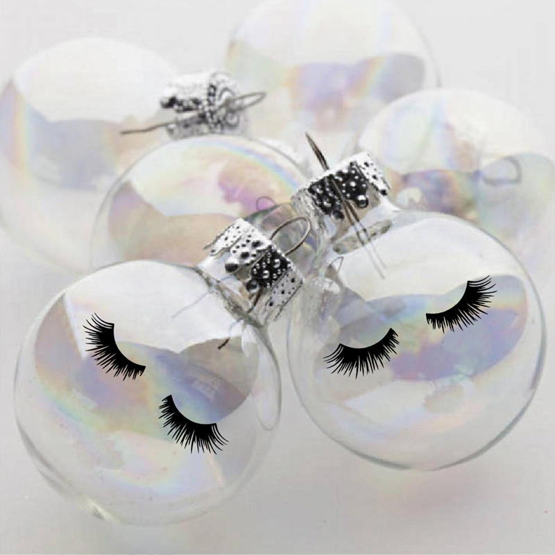 cute eyelashes decal Ornament  decoration