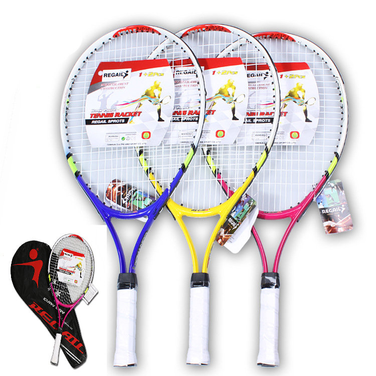 High Quality 1x New Junior Tennis Racquet Raquette Training Racket for Kids Youth Childrens Tennis Rackets with Carry Bag Hot ...