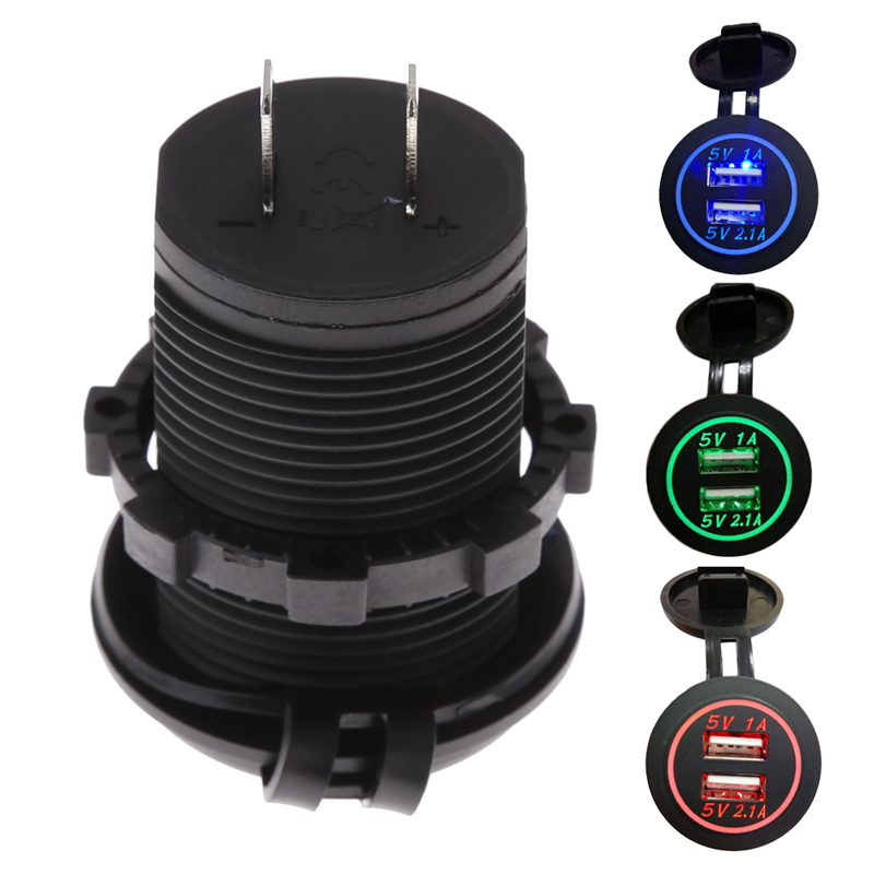 Dual USB Car Charger with LED...