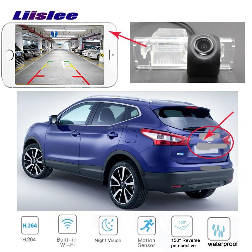 LiisLee Wireless Rear Camera For Nissan Qashqai J10 J11 Dualis 2006~2018  Reverse Camera Backup License Plate Camera