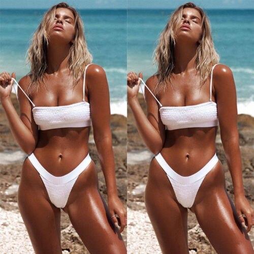d2bfe5d82 Sexy Biquíni Brasileiro Maiô Fio Dental Praia Swimming Suit Banhista  Swimwear Terno Mulheres Senhora Sólida em Conjunto biquínis de Sports    Entretenimento ...