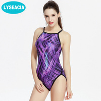Triangle Swimwear One Piece Swimsuit Women Backless Retro Print Elastic Trackless Swimming Suit For Women Maillot