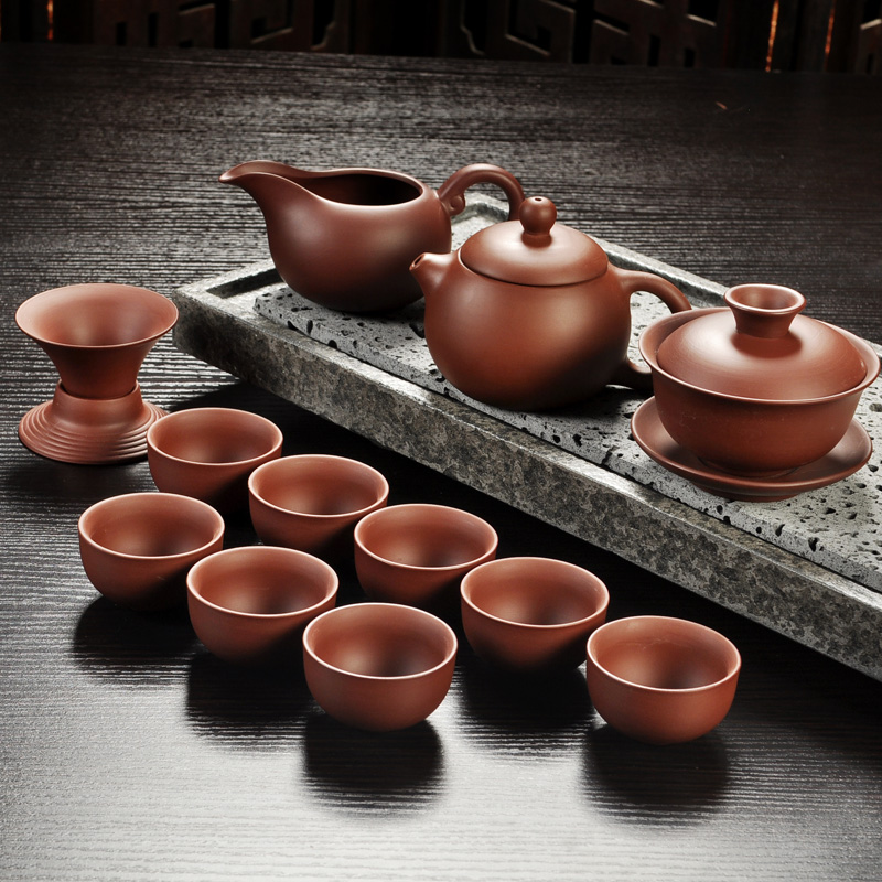 Yixing Purple Sand Gong Fu Tea Ceremony Set 5