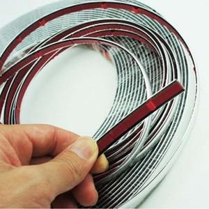 Image 3 - 13M Silber Auto Chrom Styling Dekoration Moulding Trim Streifen Band Auto DIY Schutzhülle Aufkleber 6mm 8mm 10mm 12mm 15mm 20mm 30mm
