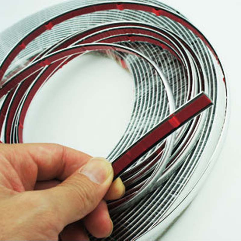 13M Silver Car Chrome Styling Dekoration Gjutning Trim Strip Tape - Reservdelar och bildelar - Foto 3