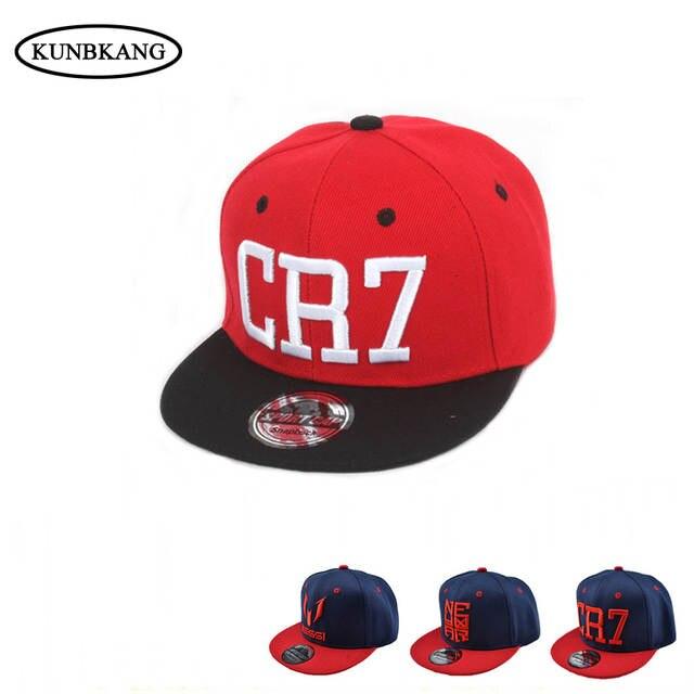 New Summer Fashion Children Ronaldo CR7 Baseball Cap Hat Boys Girls MESSI  Snapback Hats Kids Sports 0118f08f341d