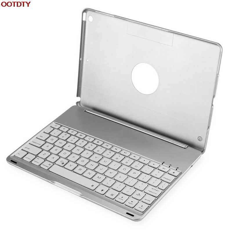F8S 7 Colors Backlit LED Bluetooth Wireless Keyboard Cover For Apple for iPad Air 1