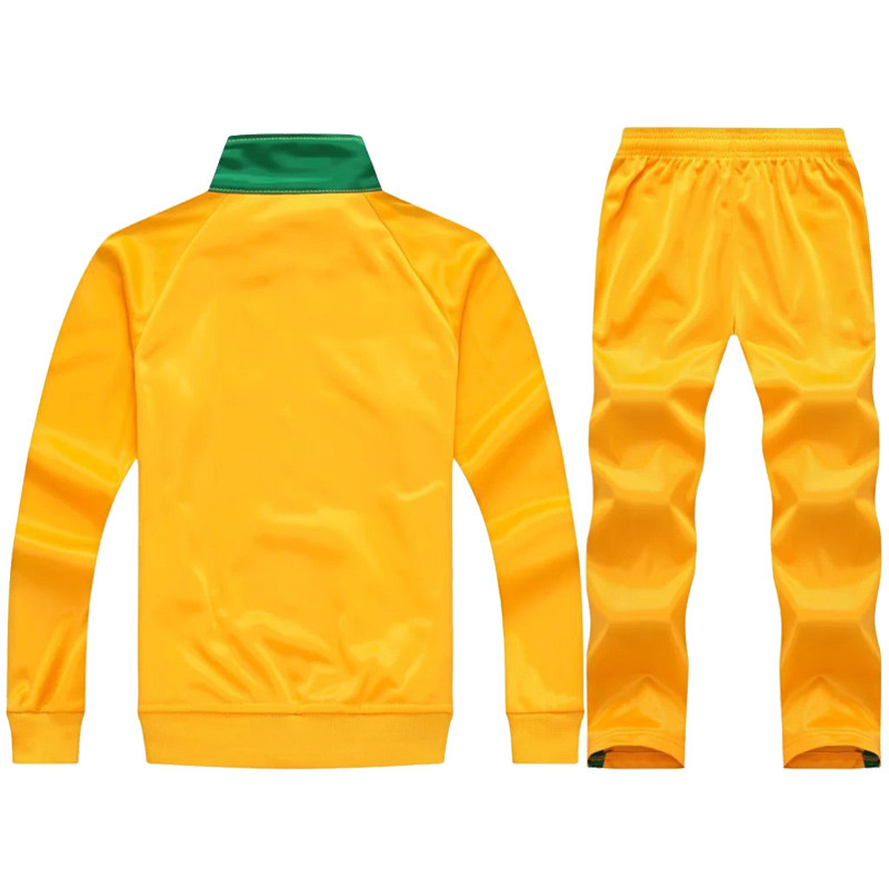 Men Child Sport Running Custom Team Football Set Long Jacket Pants Suit Soccer  Training Skinny Leg Fitness Workout GYM-in Soccer Jerseys from Sports ... 5b0f980c9