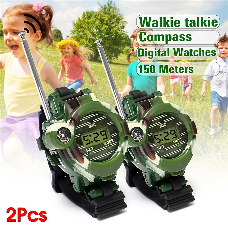 Kids Watches Interphone Gift Children Outdoor Game 7-In-1 2pcs Toy Walkie-Talkie Back-In-School
