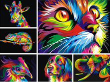 Diamond Painting Cat  Embroidery Animal Series Resin Mosaic Full Square Kits Needlework 5D DIY Home Decoration