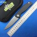 Grün dorn hati 95 Flipper klappmesser D2 klinge lager titanium cf 3D GRIFF camping jagd outdoor obst messer Edc werkzeuge-in Messer aus Werkzeug bei