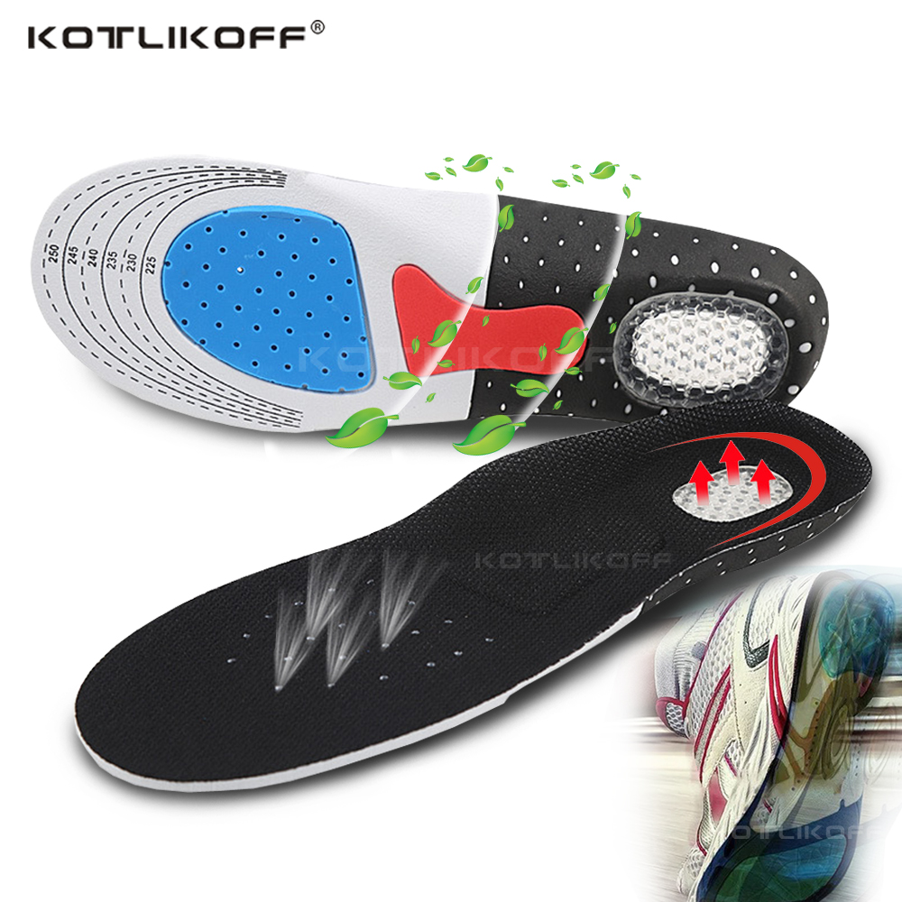 KOTLIKOFF Silicone Gel Shoe Insoles Orthotic Arch Support Sport Shoe Pad Soft Running Insert Cushion Men Women Free Size