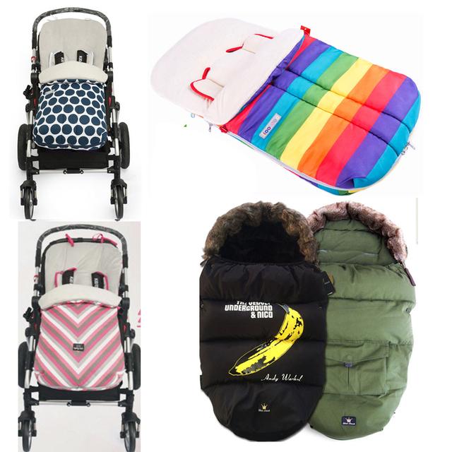 Cochecito de bebé saco de dormir de invierno sobre para recién nacidos cochecitos De Muñecas saco infantil sueño bolsa de cochecito de niño en silla de ruedas