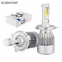 ECAHAYAKU 72W COB H7 H1 H4 H3 H11 H13 H8 9005 9006 9004 9007 880 C6 LED Bulb Headlamp Light Car HeadLight Bulbs 6000K lamp(China)