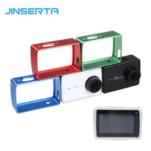 Akcesoria do kamer w ruchu ochronna rama aluminiowa do Xiaomi Yi 4K futerał na aparat pokrywa w/adapter do montażu Xiaoyi 2 II 4K