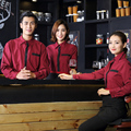 Long Sleeved Uniforms Long sleeved shirt  Cafe waiter  Hotel worker  Fast food Western-style food shops  uniforms