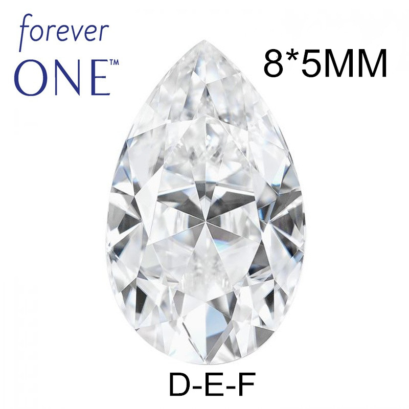 Certified Charles Colvard Forever One Fancy Pear Cut Loose Moissanite Diamond Stones 1CT VS D E F Color Selector Tester Past цена