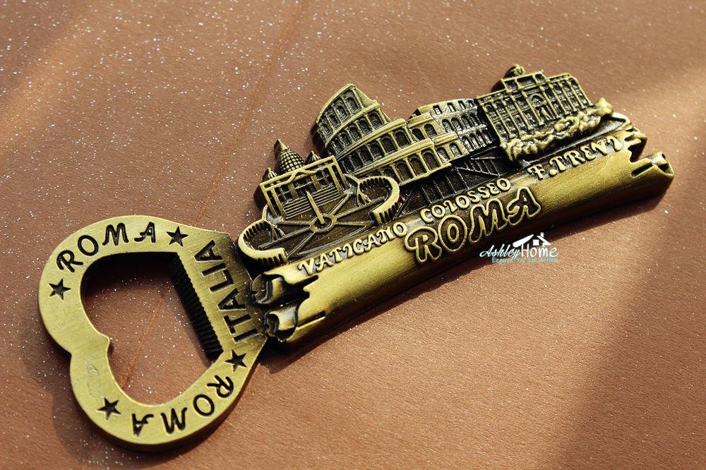 Italy roma landmarks tourist travel souvenir 3d metal fridge magnet craft beer bottle opener in - Beer bottle opener fridge magnet ...