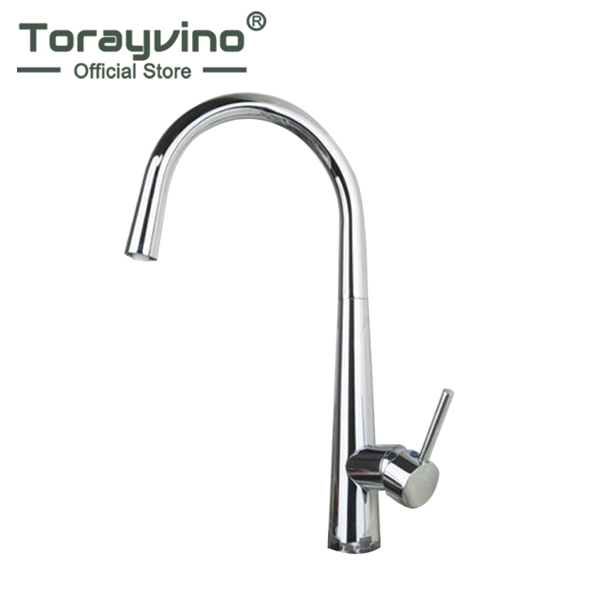 Torayvino Sumptuous and Superior in Quality Faucet Chrome Polished Deck Mounted Single Handle Single Hot Cold Water Mixer niko 50pcs chrome single coil pickup screws