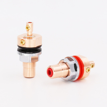 где купить Viborg RC102 Pure Copper RCA Female Socket HIFI RCA Socket for Amplifier Speaker по лучшей цене