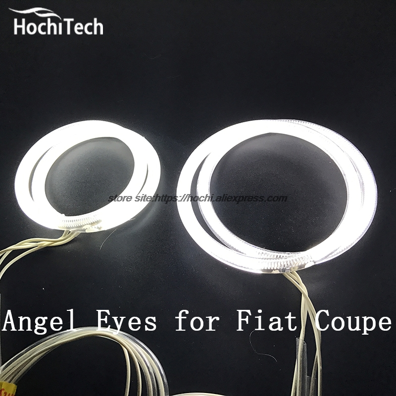 HochiTech ccfl angel eyes kit white 6000k ccfl halo rings headlight For Fiat Coupe 1993 to 2000 for uaz patriot ccfl angel eyes rings kit non projector halo rings car eyes free shipping