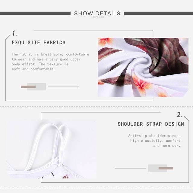 Floral Printed Yoga Woman's Top and Panties 2 pcs Set