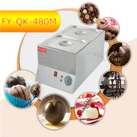 1PC FY QK 480M Hot Sale Double cylinder Electric Chocolate Fountain Fondue Hot Chocolate Melt Pot melter Machine