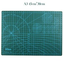A3 Pvc Rectangle Grid Lines Self Healing Cutting Mat Tool Fabric Leather Paper Craft DIY tools 45cm * 30cm 1 pc a4 grid lines cutting mat craft card fabric leather paper board 30 22cm