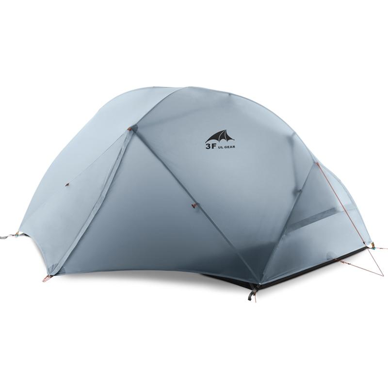 3F 2 Personne 4 Saison 15D Nouveau Ultra-Léger Randonnée Imperméable Coupe-Vent Tentes de camping en plein air tente avec tapis