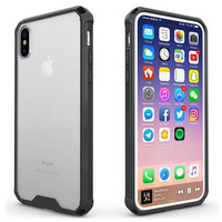 New TPU Frame Transparent Back Acrylic Case for iphone 8 Anti-knock Protection Cover Shell Case for iphone 8