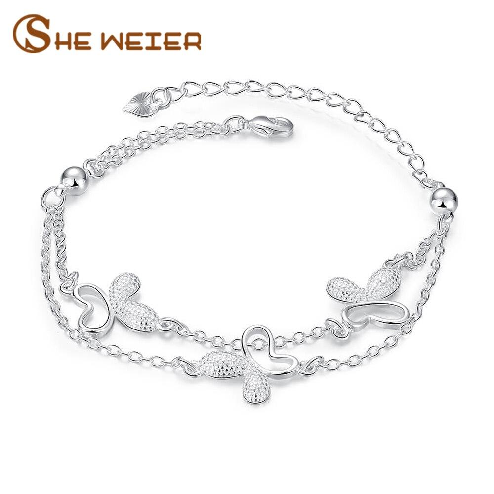SHE WEIER Friendship Heart Bracelets for Girls Bracelet Jewelry Accessories Bracelets & Bangles Charms Femme Braslet Bizuteria