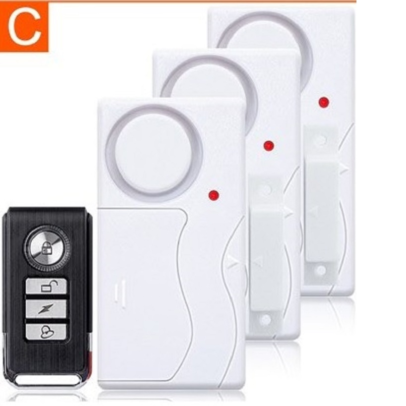 DARHO Home Security Door Window Siren Magnetic Sensor Alarm Warning System Wireless Remote Control Door Detector Burglar Alarm leshp 105db wireless remote control door vibration alarm sensor door window home security sensor detector with remote control