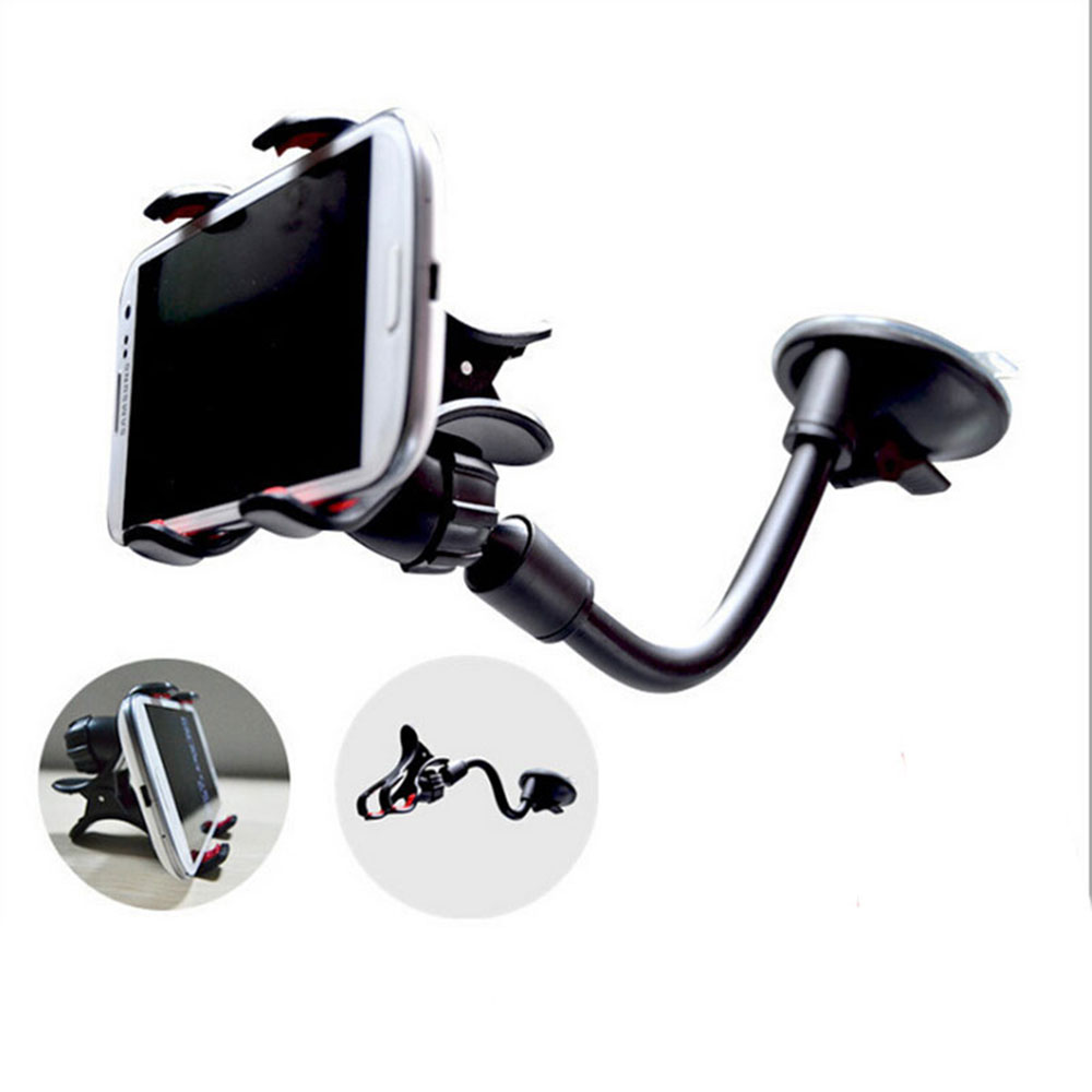 2016 Universal 360 Degree Rotating Long Arm Windshield mobile phone Car Mount Bracket Holder Stand for