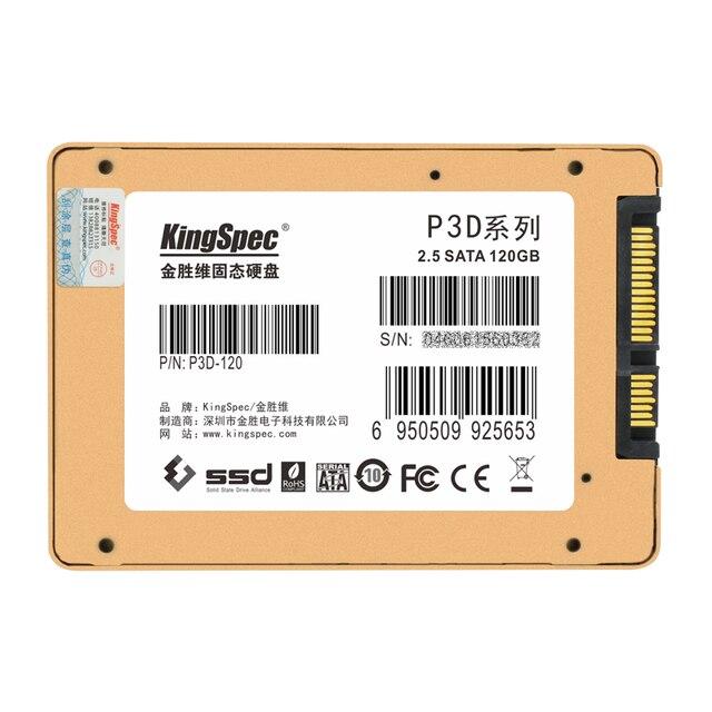 """P3d kingspec 2.5 """"SSD de 120 GB 7/9. 5mm Flash MLC Interna de Estado Sólido unidad de Disco duro para el ordenador portátil/escritorio alta velocidad SATA3 6 Gbps"""