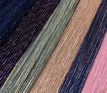Shimmer Crushed Fabric For Dress Party Skirt Pleated Magic Color Material Summer Fashion