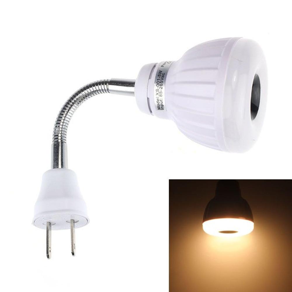 2017 AC 110V 220V 5W LED PIR Infrared Sensor Motion Detector Light Bulb Lamp US Plug jl 020 us plug e27 led pir motion sensor lamp holder white ac 180 240v