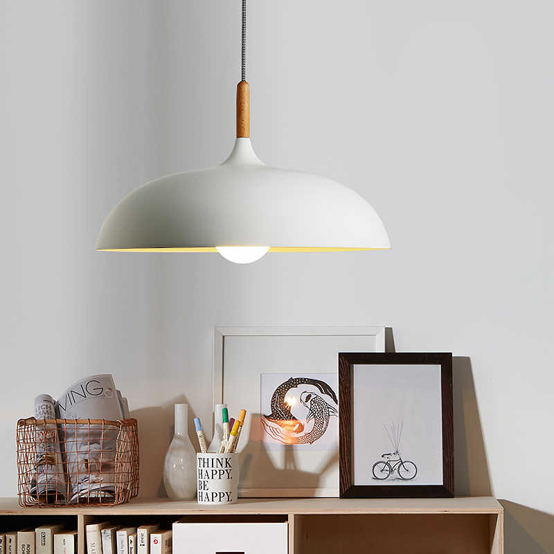 Северной Европы в японском стиле Подвесная лампа в простом стиле современный деревянный Art лампа дома Обеденный Гостиная освещения AC110V/220 V E27