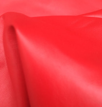 whole piece red Genuine soft sheep skin for garment leather material