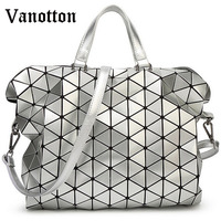 Famous Brand Woman Bag Plaid Tote Handbags Fashion Shoulder Bags Diamond Lattice Handbag Bolsa Briefcase Issey