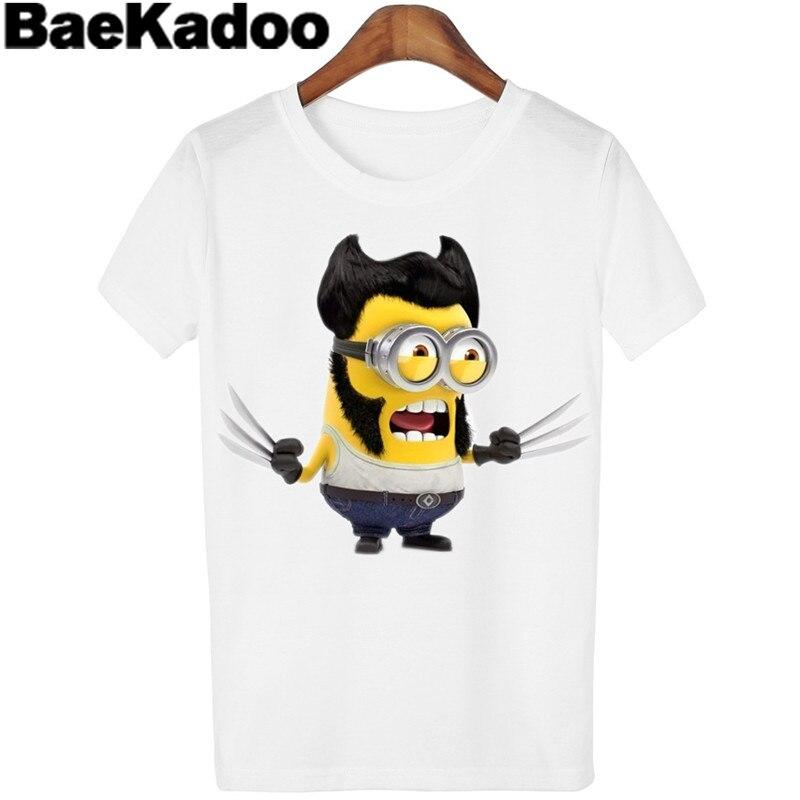 BAEKADOO High Quality  O-neck Summer Woman  White Cartoon Short Sleeve Top Outwear T-shirt