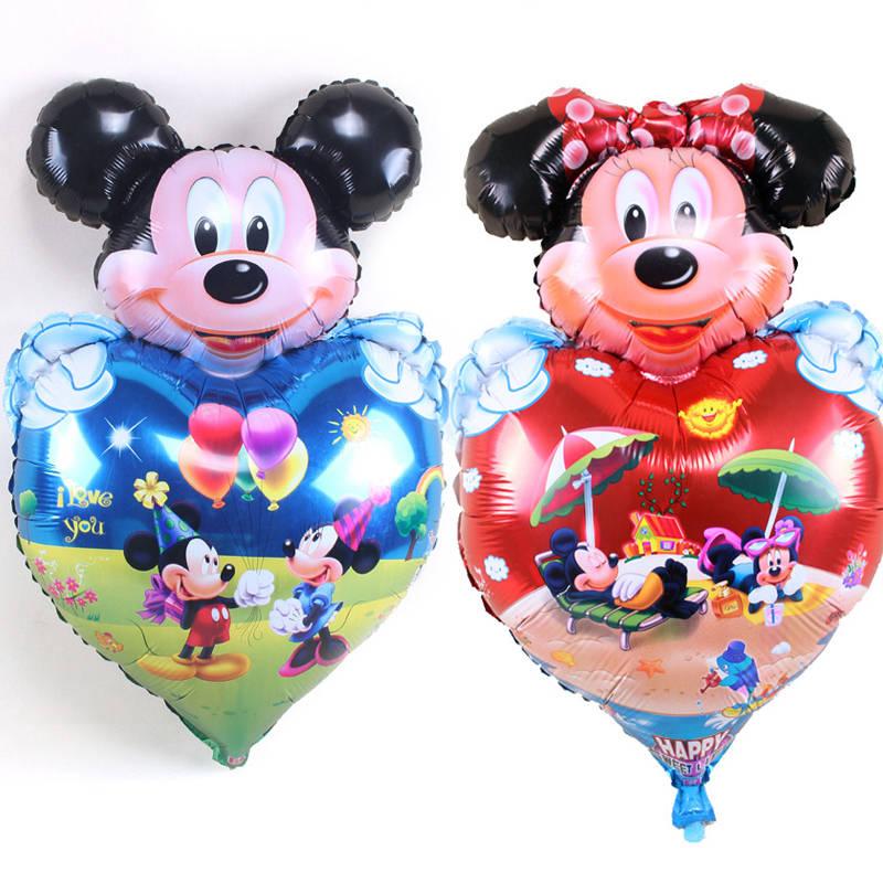 5pc Minnie Mickey foil balloons birthday mickey mouse Polka dot wedding birthday party decor supplies globos