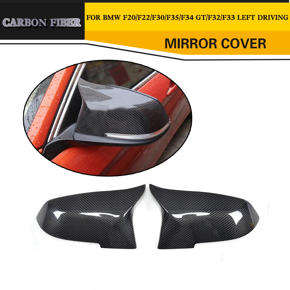 Carbon Fiber Side Mirror Covers Shell for BMW 1 2 3 4 Series F22 F32 F33 F34 GT X1 E84 F20 F21 12-16 F30 F31 12-17 LHD Not M Car f10 side wing rearview mirror cover caps for bmw sedan 11 13 carbon fiber